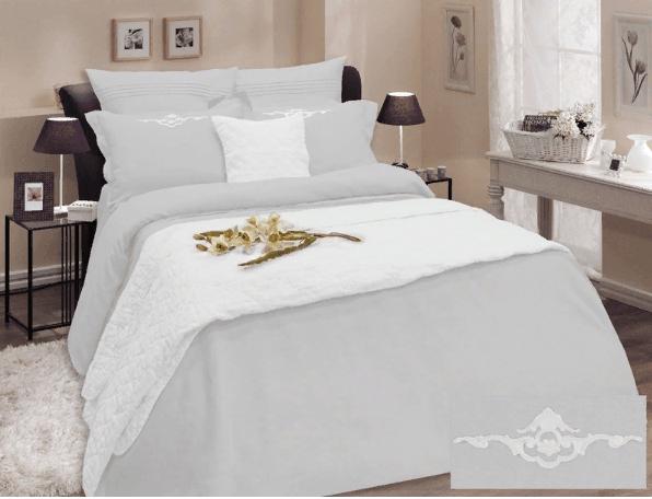 Фото 3 - Комплект постельного белья 100% лен евро серый.