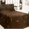"""Фото 4 - Комплект постельного белья 100% лен """"Перышко"""" семейный шоколадный."""