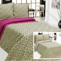 """Фото 14 - Комплект постельного белья льняной """"Цветы"""" серый 1.5 спальный."""