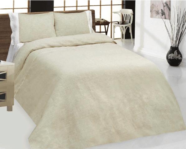 Фото 3 - Комплект постельного белья 100% лен евро серый с белым.