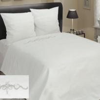 """Фото 14 - Комплект постельного белья льняной """"Винтаж"""" 2 спальный белый."""