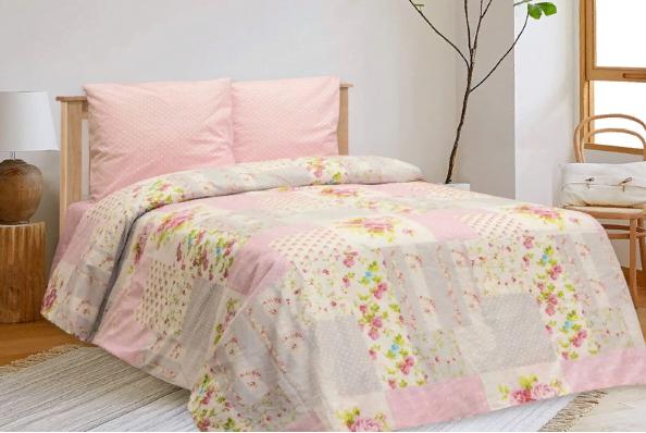 """Фото 3 - Комплект постельного белья льняной """"Пэчворк"""" 2 спальный."""