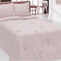"""Фото 5 - Комплект постельного белья 100% лен """"Дуновение"""" евро пыльная роза."""
