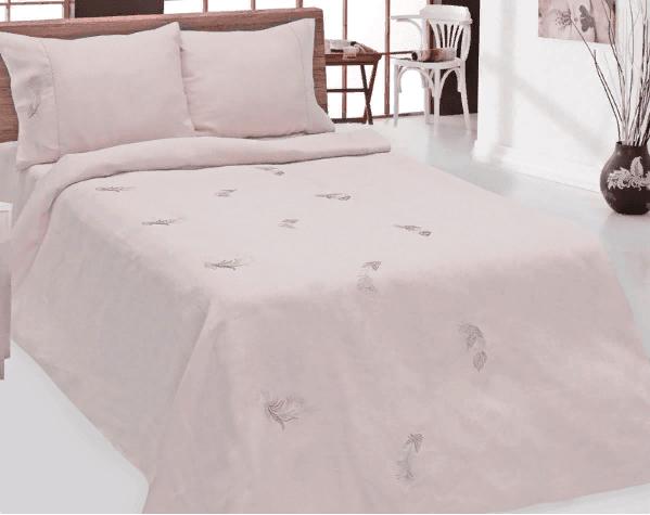 """Фото 3 - Комплект постельного белья 100% лен """"Дуновение"""" евро пыльная роза."""