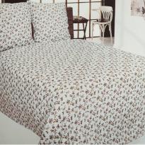 """Комплект постельного белья льняной """"Цветы"""" 1.5 спальный"""