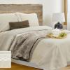 Фото 4 - Комплект постельного белья льняной евро серый.