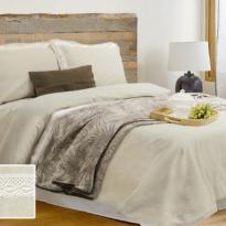 Фото 11 - Комплект постельного белья льняной евро серый.