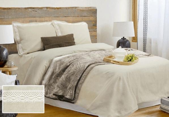 Фото 3 - Комплект постельного белья льняной евро серый.