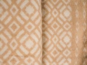 Фото 5 - Одеяло, шерстяное 170*205 жаккард, бежевое.