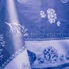 """Фото 9 - Скатерть хлопковая """"Ракушки"""" синяя 178*320."""