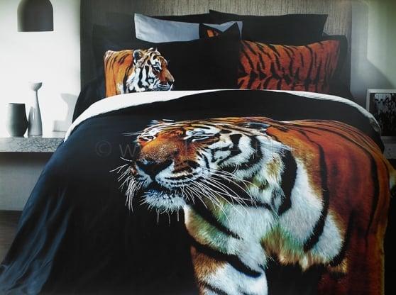 """Фото 3 - Комплект постельного белья """"Тигр"""", сатин жаккард, 2сп."""