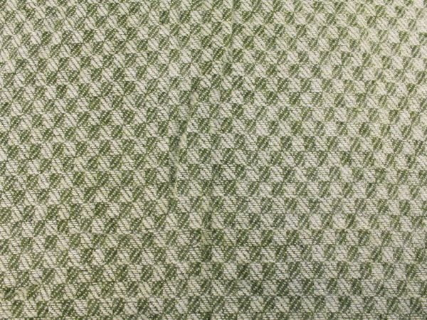 """Фото 6 - Плед 100% шерсть  """"Жаккард"""" цвет зеленый."""