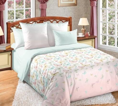 Фото 3 - Комплект постельного белья Мон Амур перкаль (с компаньоном).