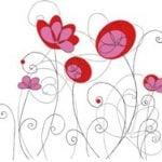Красные-цветы
