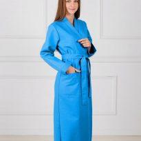 Фото 18 - Женский вафельный халат с планкой.