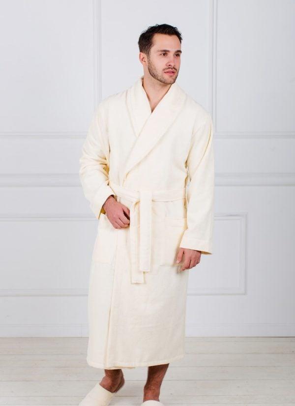 Фото 3 - Мужской махровый халат с шалькой.