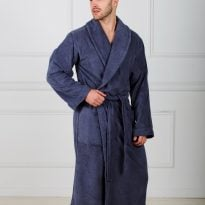 Фото 15 - Мужской махровый халат с шалькой.