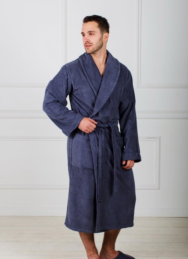 fac8aa01195b Мужской махровый халат с шалькой купить недорого | Народный Лен