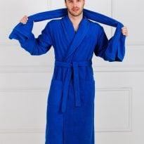 Мужской махровый халат с шалькой