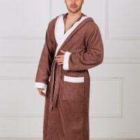 Фото 14 - Мужской махровый халат с капюшоном.