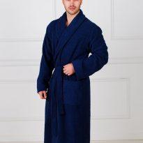 Фото 18 - Жаккардовый мужской махровый халат с шалькой.