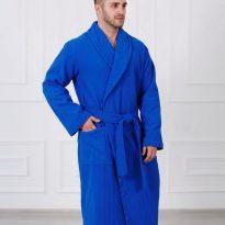 Фото 9 - Жаккардовый мужской махровый халат с шалькой.