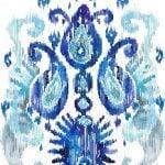 Икат. Синий
