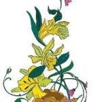 Желтые цветы вышивка