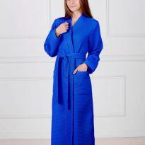Фото 6 - Женский вафельный халат с планкой.