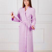Фото 9 - Женский вафельный халат с планкой.