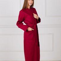 Фото 11 - Женский вафельный халат с планкой.
