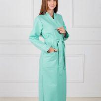 Фото 12 - Женский вафельный халат с планкой.