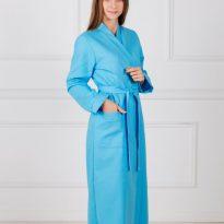 Фото 13 - Женский вафельный халат с планкой.