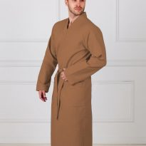 Фото 16 - Мужской вафельный халат с планкой.