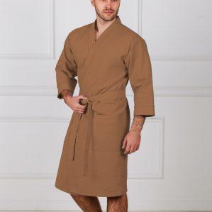 Вафельные халаты мужские