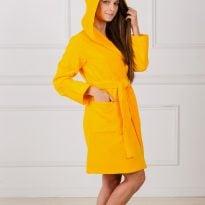 Фото 18 - Махровый женский укороченный халат с капюшоном.