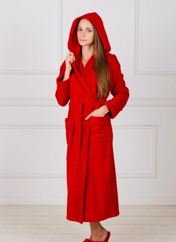 Фото 3 - Женский халат с капюшоном.