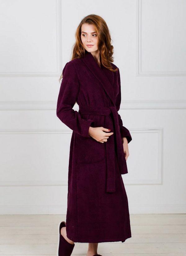 Фото 3 - Женский махровый халат с шалькой.