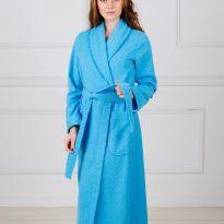 Фото 8 - Жаккардовый женский махровый халат с шалькой.