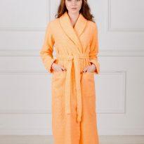 Фото 7 - Жаккардовый женский махровый халат с шалькой.
