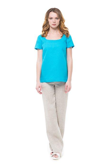 Фото 22 - Блуза льняная с коротким рукавом.