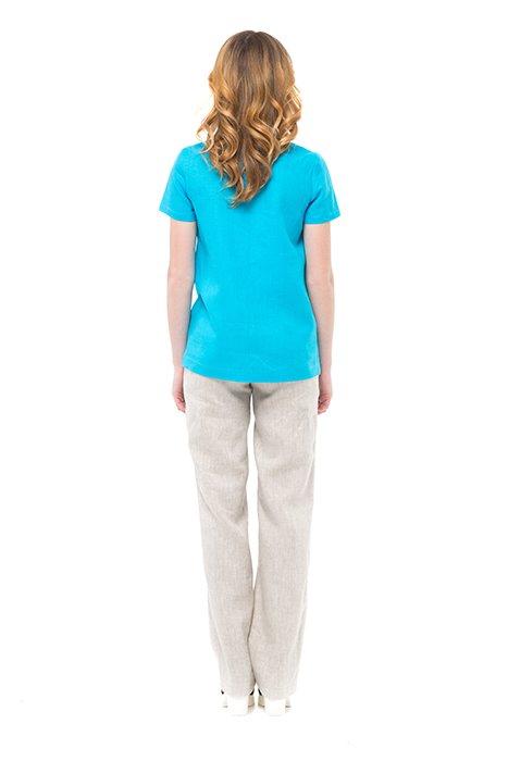 Фото 25 - Блуза льняная с коротким рукавом.