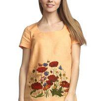 Фото 4 - Блуза льняная с коротким рукавом.