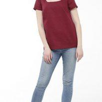 Фото 6 - Блуза льняная с коротким рукавом.