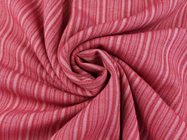 Ткань смесовая костюмная розовая в полоску