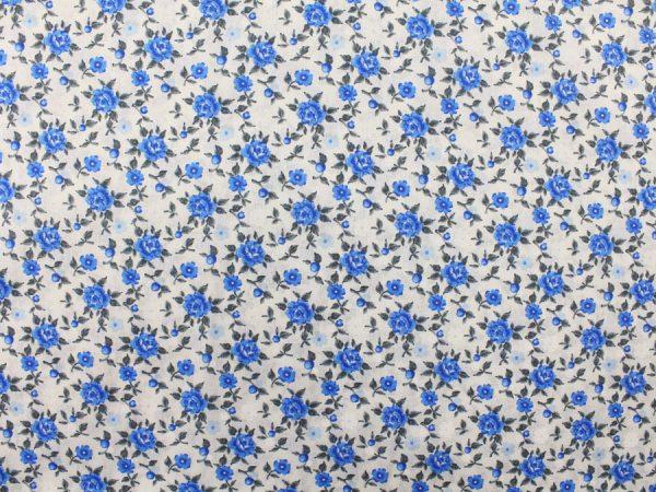 """Фото 4 - Ткань плательная """"голубые  цветы""""."""