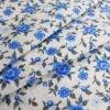 """Фото 9 - Ткань плательная """"голубые  цветы""""."""