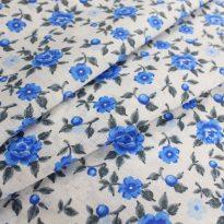 """Фото 16 - Ткань плательная """"голубые  цветы""""."""