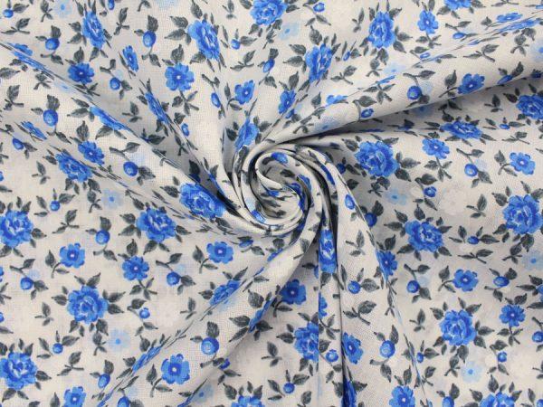 """Фото 8 - Ткань плательная """"голубые  цветы""""."""
