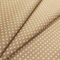"""Ткань для постельного белья """"Горошек на коричневом"""" шир 2,20"""